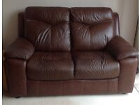 LEATHER DARK BROWN SUITE