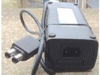 Genuine Microsoft Xbox 360 Slim Black AC Power Charger Adapter Power Supply