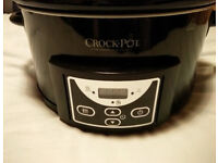 Crock-pot 4.7l Gloss Black Slow Cooker