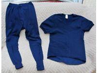 Damart Gents Thermal Underwear - Navy Blue - Medium Size