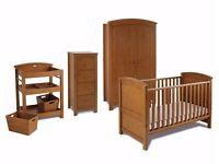 Silvercross Nursery Furniture Set (Cotbed, Wardrobe, Tallboy & Changing Unit)