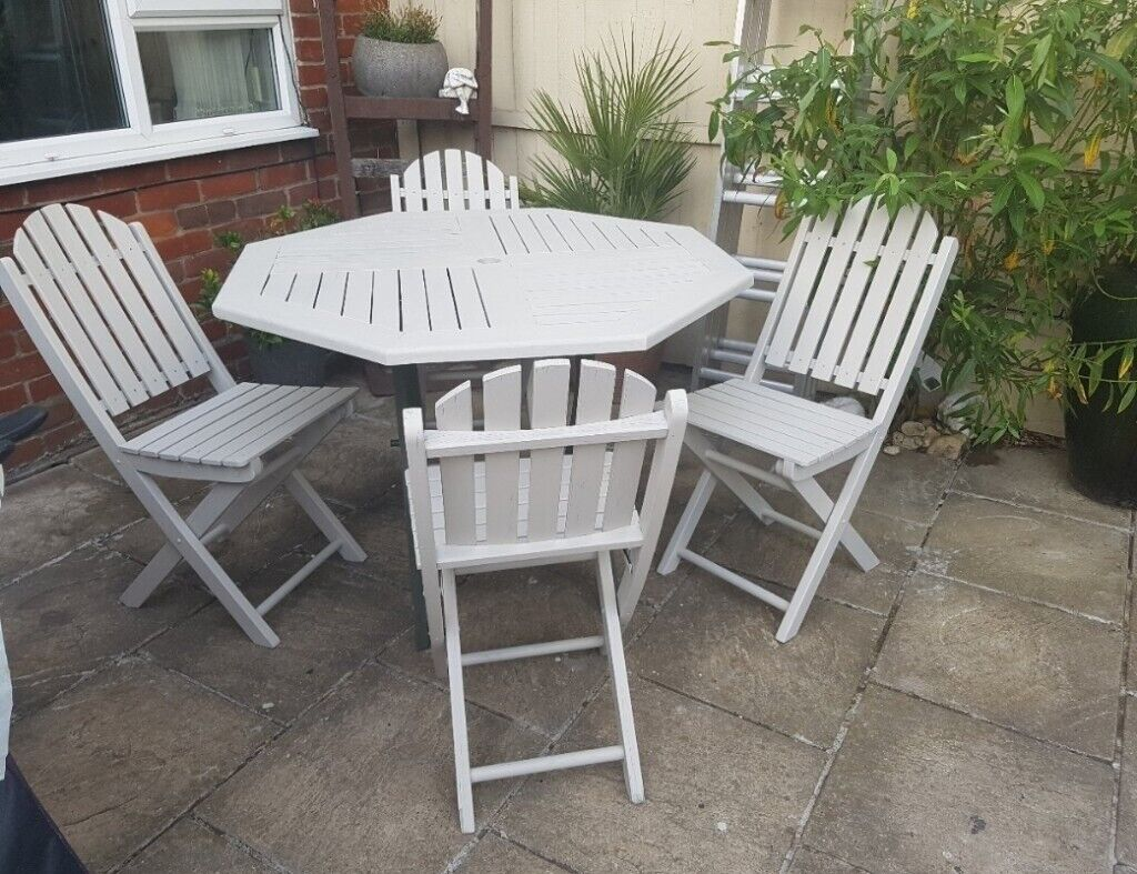 Fantastic Garden Table And 4 Folding Chairs In Bromley London Gumtree Pdpeps Interior Chair Design Pdpepsorg
