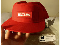 WUTANG 5 panel Cap in Red (rare) *mint condition*