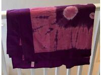 Indian Tie Dye type Throw