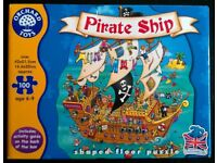 Orchard Toys 100 Piece 'Pirate Ship' Shaped Floor Puzzle (boxed)