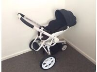 Quinny Moodd White Single Seat Stroller