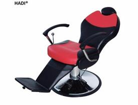 NEW RED& BLACK HADI® BARBER CHAIR BC-26,CASH ON COLLECTION ONLY