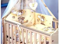 Baby baby cot bed bedding set with canopy