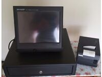 Sharp UP-X300 POS Terminal with Remote Drawer and Sam4S Ellix 2011S POS Printer **REDUCED**
