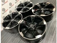 """BRAND NEW 19"""" 20"""" AUDI RS3 STYLE ALLOY WHEELS - GLOSS BLACK ALSO AVAILABLE WITH TYRES"""