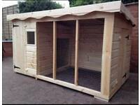 Extra large dog kennel and run