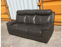 Leather recliner 3 seater - Free Local Delivery