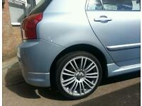 """17 """" alloy wheels with nearly new tyres"""