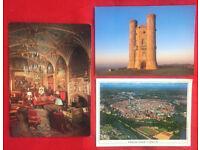 3 unused colour postcards: Eastnor Castle, Broadway Tower & Hansestadt Lubeck, Germany. £2 lot.