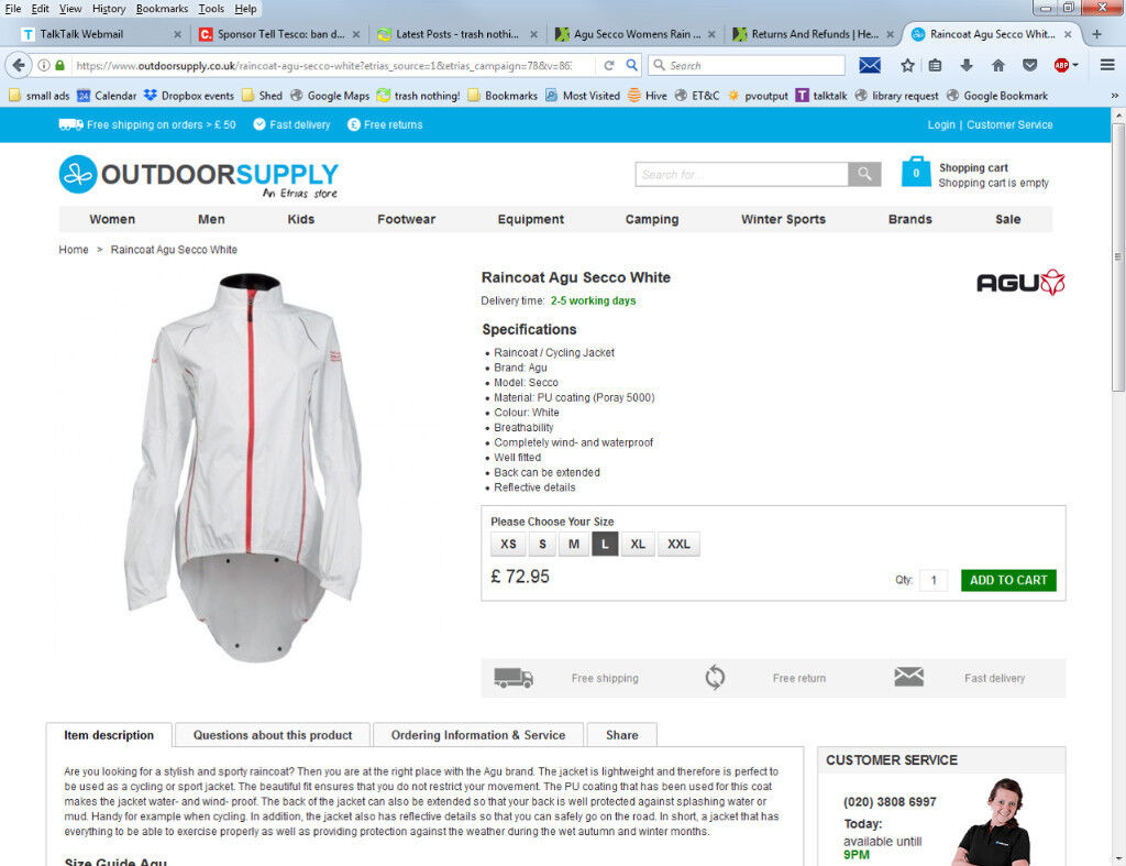 Raincoat New in box