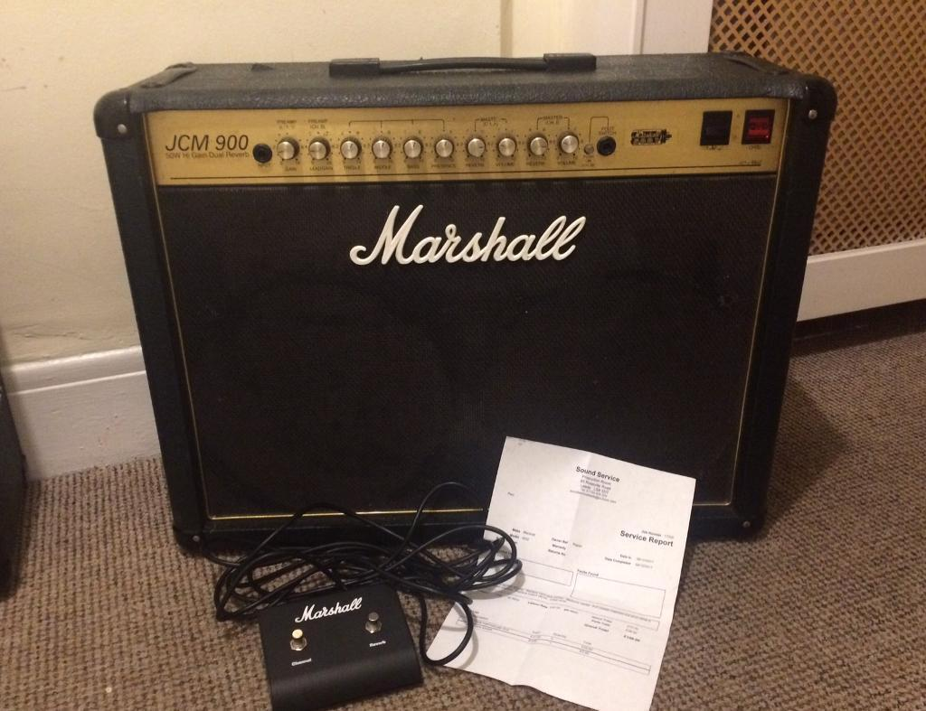 Marshall JCM900 Hi Gain SuperLead Dual Reverb 50w Valve Amp, Serviced - DELIVERY AVAILABLE