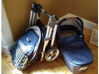 ARMADILLO FLIP XT BUGGY AND CARRYCOT (NAVY)