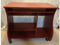 COMPUTER DESK / WORKSTATION IN EXCELLENT CONDITION – Mahogany effect