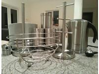 Brushed stainless steel kitchen accessories - JOB LOT!!