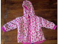 Jojo Mama Bebe Reversible Waterproof Fleece Lined Rain Jacket