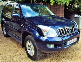 Toyota Land Cruiser Invincible Top Spec Auto Low Mileage Good Conditn Metallic Pacific Blue Dec 2007