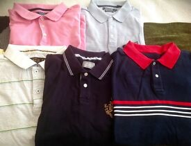 Bundle of eight men's short sleeved t shirts extra large great condition