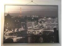 Large decorative b&w skylines frames