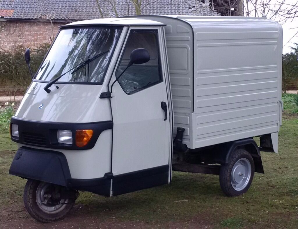 Piaggio Ape 50, beautiful 3-wheeled van, nearly new 64 reg, perfect