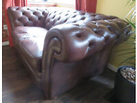 Gorgeous Leather Chesterfield 2 Seater