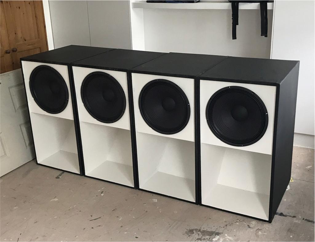 "Full-size Professional PA 15"" Scoop Bass Bin subwoofer speaker box"