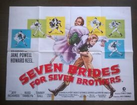 seven brides for seven brothers ' original cinema poster