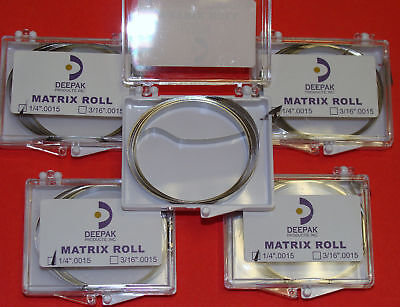 Dental Band Matrix Roll 14.0015 Kit 5 Rolls