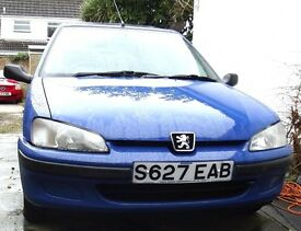 clean car starts & drives well, e/windows front, sun roof, c d player, new MOT just run in.