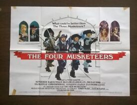 the four musketeers ' original 1970s cinema poster