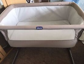 Chicco Next2me Bedside Sleeping Crib Cot for sale- £90