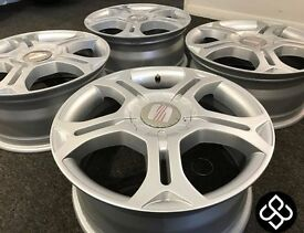 "NEW GENUINE SEAT 17"" ALLOY WHEELS - 5 X 112 - (FITS AUDI, VW) - Wheel Smart"