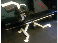 very expensive heavy duty commercial pulsestar adjustable incline decline abs bench (RRP £599)