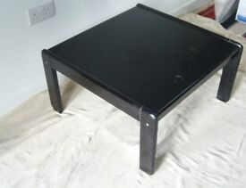 Habitat black ash square coffee table
