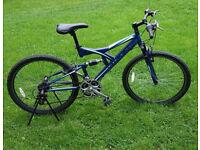 "Ventura full suspension mountain bike, 26"" wheels"
