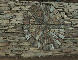 "Cornish Slate walling stone 3-9"" hand picked sold in Bulk Bag."