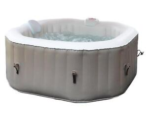NEW 4 PERSON INFLATABLE HOT TUB PORTABLE HEATED BUBBLE JET