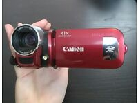 Canon Legria FS406 Video Camera (Discontinued, Rare) + Carry Case, Charger, SD Card, Battery