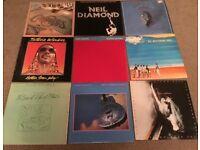 Nine vinyl records