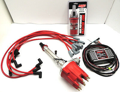 SBC PRO BILLET IGNITION SYSTEM W/COIL, DISTRIBUTOR, BOX & WIRES SBC-PB-MSD-VA