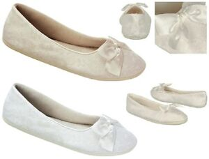 NEW-Sheila-Bridal-Ballet-Flats-Indoor-Outdoor-Sole-White-Ivory-Lace-Satin-Bow
