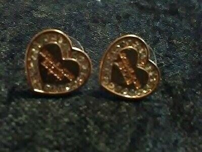 Michael kors Rose Goldtone Heart Stud Earrings