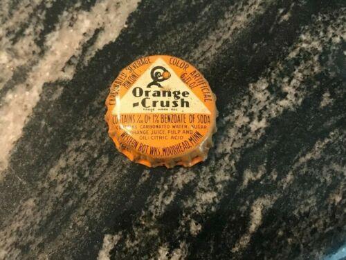 VINTAGE ORANGE CRUSH SODA POP BEVERAGE CORK BOTTLE CAP / CROWN MOOREHEAD MN