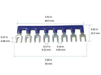 1 Pcs 8p Wire Connector Fork Terminal Block Barrier Strip Blue Tb2508 600v 25a