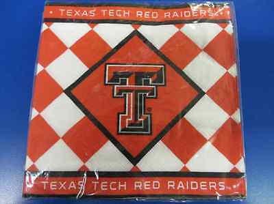 Texas Tech Red Raiders Checkered NCAA University Sports Party Luncheon Napkins](Red Checkered Napkins)