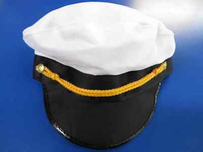 Yacht Captain Hat Sailor Boat Fancy Dress Up Halloween Adult Costume Accessory](Boat Captain Halloween Costume)